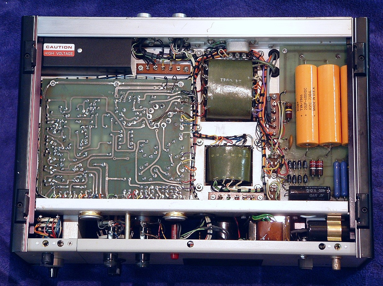 Sams Laser Faq Commercial Hene Lasers Class B Wiring Diagram For I Originally Didnt Intend To Power This Unit Until Id Replaced The Three Orange 20 Uf 600 V Caps One Had Obviously Overheated And Leaked A Bit Already
